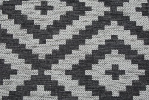 Scatter/Pillow: Puzzle Charcoal (Band Pattern)