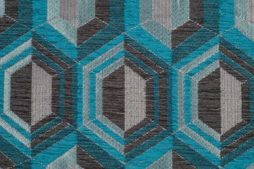 Scatter/Pillow: Honeycomb Teal (Band Pattern)