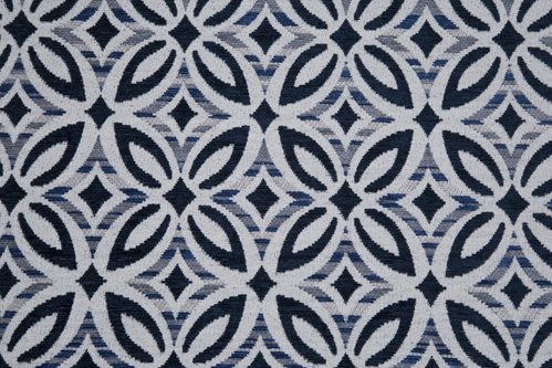 Scatter/Pillow: Delta Navy (Band Pattern)