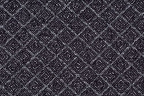 Scatter/Pillow: Hampton Diamond Charcoal (Band Pattern)