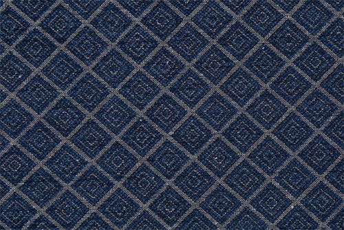 Scatter/Pillow: Hampton Diamond Navy (Band Pattern)