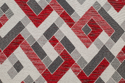 Scatter/Pillow: Labyrinth Red (Band Pattern)
